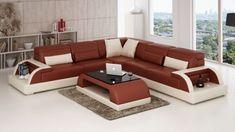 40 Modern sofa set designs for living room interiors 2019 Sofa Set Designs, Sofa Design, Leather Corner Sofa, Leather Sofa Set, Corner Sectional Sofa, Sofa Couch, Cheap Living Room Sets, Sofa Inspiration, Homes