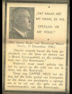 Geni - Photos in Photos from Maritz Rebellie 15 September 1914 - 4 Februarie 1915 Genl Manie Maritz