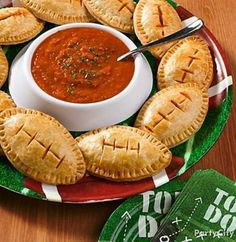 Recipe For Football Mini Calzones - Super Bowl Party, time to get ready for the big game!