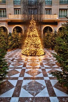 Twinkle, twinkle, little tree... at the Four Seasons Hotel George V in Paris