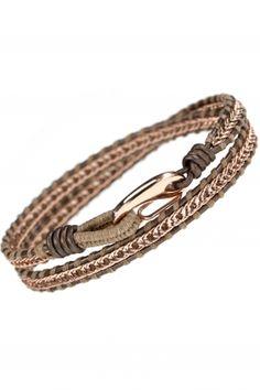 SMALL Lederwickelarmband rosé vergoldet Diy Jewelry, Beaded Jewelry, Bronze, Wrap Bracelets, Handmade, Board, Shop, Inspiration, Bracelets