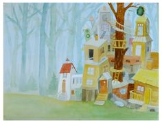 """Marita Maizīte. House in wood, built by old lady...  from book 'Monika and wood"""""""