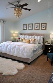 Master bedroom above the bed wall decor