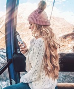 long hairstyle   winter   beanie   cute   curly   curls   wavy   blonde   with hair extensions