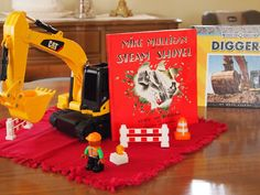 Five in a Row - Mike Mulligan and his Steam Shovel unit with science, lapbook, sensory bin, music, Bible, art, and MORE!!