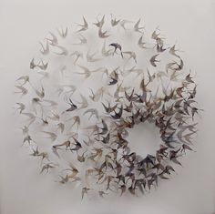 Ethereal Woven Metal Leaf and Seed Installations by Michelle Mckinney | DesignDaily