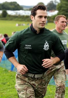 Henry Cavill and his Team at the Commando Challenge 10k run