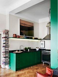 Green kitchen   Cocinas Integrales Mödul Studio