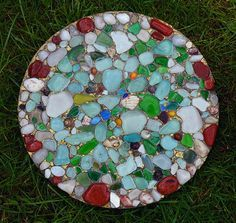 Sea Glass Homemade Stepping Stone