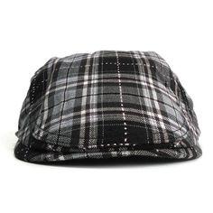 f251cb89e91 2017 Cotton Gorras Planas Male Beret Vintage Flat Cap Boinas Berets Plaid  Headwear Men Women Hats