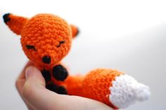 Hand Made Foxy. See more #knitted toys here…