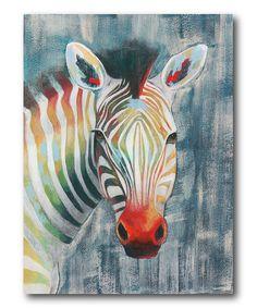 Prism Zebra I Wrapped Canvas