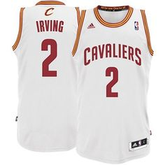 Mens Cleveland Cavaliers Kyrie Irving adidas White Swingman Home Jersey