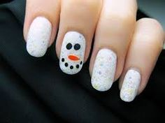 Image result for snowman nails