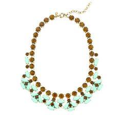 J.Crew - Mint stone necklace