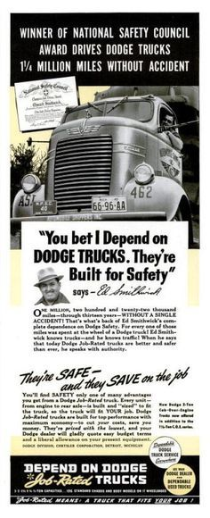 1940 Dodge truck ad - featuring the COE
