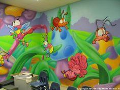 Garden-themed nursery environment for Covenant Church in Texas. Created by Wacky World Studios