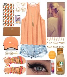 """""""Her eyes, her eyes, make the stars look like they're not shining🌟"""" by xo-arissa-xo ❤ liked on Polyvore featuring H&M, Elina Linardaki, Topshop, Forever 21, Casetify, Tory Burch, NIKE, Lord & Taylor, arissacreations and summer2k16"""