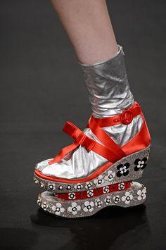 Prada Spring 2013 Thong Sock Shoes---what the crap?