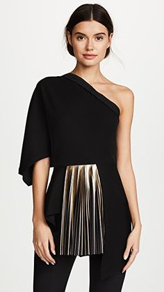 28390cc869cebd One Shoulder Top with Foil Pleats (Posts by Denisee Denisee)