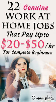 Read about 22 genuine work from home jobs & side gigs that will help you to make money from home in Find the best jobs and start working today! Work From Home Companies, Online Jobs From Home, Work From Home Opportunities, Work From Home Tips, Home Jobs, Online Work, Ways To Earn Money, Earn Money From Home, Earn Money Online
