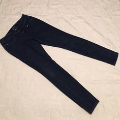 Loft Curvy Skinny Jeans Dark Denim Jeans. Has crease marks on front and back of pant legs. LOFT Jeans Skinny
