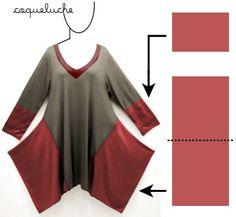 lagon look patterns | tuto tunique papillon | Clothing inspiration