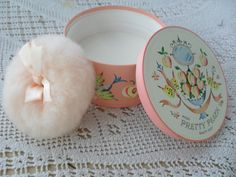 Avon talcum powder with a powder puff...a layer of 'dust' all over the bathroom or bedroom in 2 seconds flat!! :)