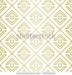 Luxury Geometric Pattern Seamless Vector Lines Stock Vector (Royalty Free) 1255142311 Golden Pattern, Geometric Lines, Background Patterns, Royalty Free Stock Photos, Graphic Design, Luxury, Illustration, Image, Illustrations