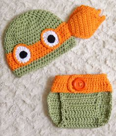 TMNT Ninja Turtles Crochet Baby Hat