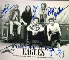 The Eagles Joe Walsh Don Felder Henley Frey Schmit Autographed 8 X 10 RP Photo for sale online Eagles Music, Eagles Band, Wedding Dinner Music, Dans Fans, Glen Frey, Rip Glenn, Fire Image, Thing 1, Hotel California