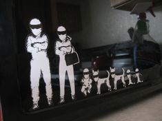 STIG Family Stickers. The stig dogs are great.