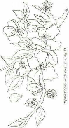 I like that this has the blooms and branches Tole Painting, Fabric Painting, Colouring Pages, Coloring Books, Embroidery Patterns, Hand Embroidery, Kirigami, Painting Patterns, Paint Designs