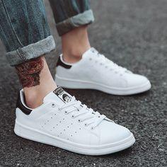 newest d79b7 6fc13 Pantofi pentru bărbați Pu Leather Pantofi vulcanizați pentru bărbați. Adidas  ...