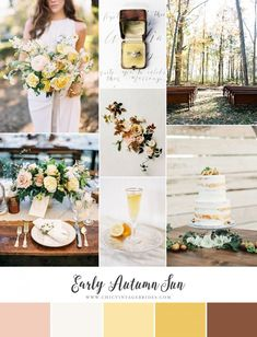 Early Autumn Sun - Romantic Wedding Inspiration in Mustard Yellow & Hint of Blush - Chic Vintage Brides : Chic Vintage Brides
