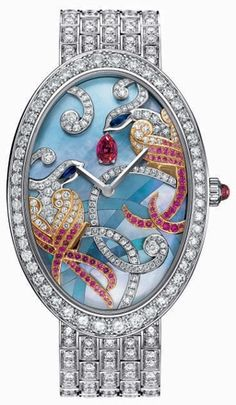 Diamond Watches Collection : Van Cleef & Arpels Timeless Birds of Paradise watch - Watches Topia - Watches: Best Lists, Trends & the Latest Styles Van Cleef And Arpels Jewelry, Van Cleef Arpels, High Jewelry, Bling Jewelry, Ring Armband, Back In The 90s, Fine Watches, Unique Watches, Ladies Watches