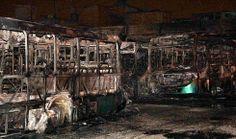 Galdino Saquarema Noticia: Incendiados 30 ônibus da empresa Urubupungá em Osasco SP...