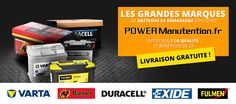 Power Manutention | Batterie voiture, auto, camping-car et bateau pas cher
