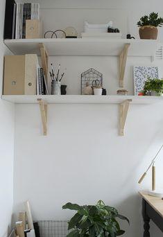 IKEA 'EKBY JARPEN' shelves   Workspace makeover @ikeafamilylive