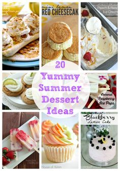20 Summer Dessert Ideas {Link Party Features) I Heart Nap Time | I Heart Nap Time - Easy recipes, DIY crafts, Homemaking
