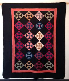 A midwestern beauty this Shoofly pattern friendship quilt is made of cotton, cotton sateen and cotton twill. It was machine pieced and is