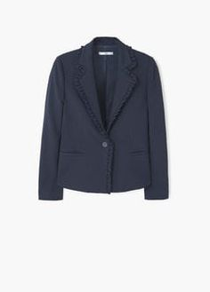 Structure ruffled blazer