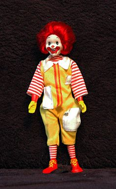 Vintage Rare Collectible 1976 McDonalds Ronald McDonald Posable Doll( Oh, John---you sold ole Roddy Mc doddy,...so sad :( really  )