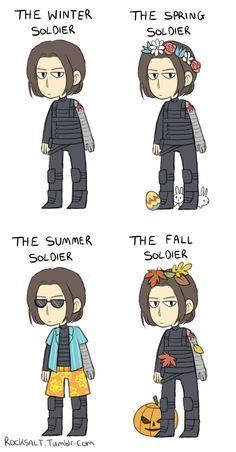 The Winter Soldier || by rocksalt || Bucky Barnes || #fanart #humor