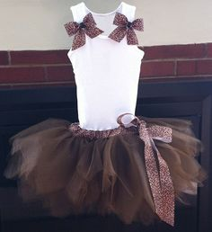 tutu dress, just change the leopard to a differnent color ribbon! cute for flower girl with cowboy boots!!