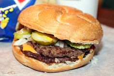 Billy Goat Tavern's famous double cheesburger. In Chicago. Made famous by that Saturday Night live skit.