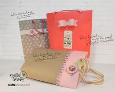 No te puedes perder estas bolsas para regalo. Mira el paso a paso aquí. Además una de ellas tiene descargables gratuitos!!!