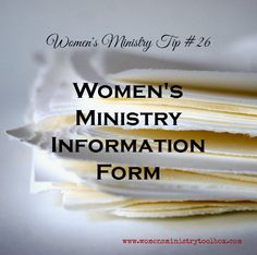 This Women's Ministry Information Card (Free Printable)is a form you can use to collect information on your women as well as recruit volunteers.