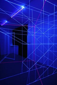 #uvlighting #blacklight Installation Art - Spectacular UV Light and Thread Installations
