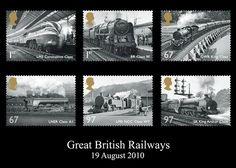 Great British Railway Set of Stamps